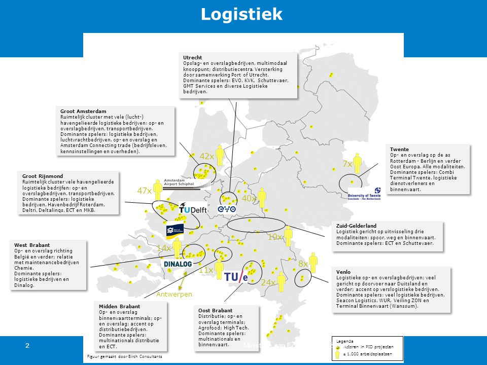 Utrecht Opslag- en overslagbedrijven, multimodaal knooppunt; distributiecentra. Versterking door samenwerking Port of Utrecht.