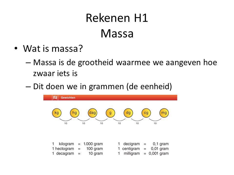 Rekenen H1 Massa Wat is massa