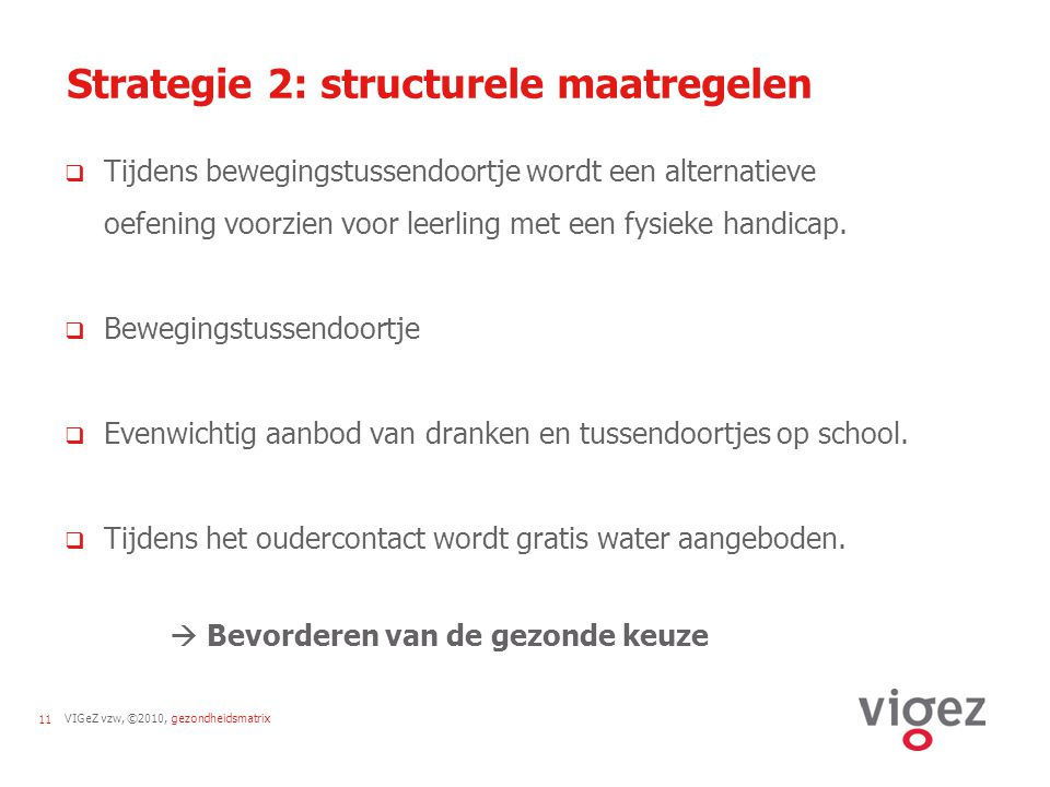 Strategie 2: structurele maatregelen