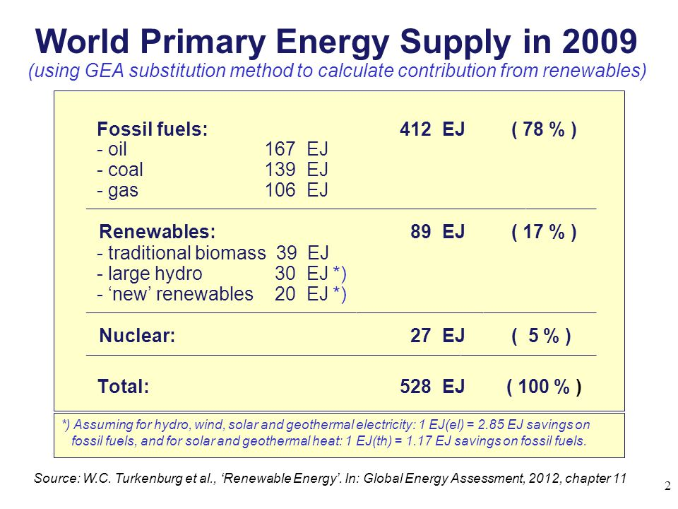 World Primary Energy Supply in 2009