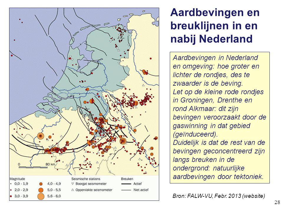 Aardbevingen en breuklijnen in en nabij Nederland