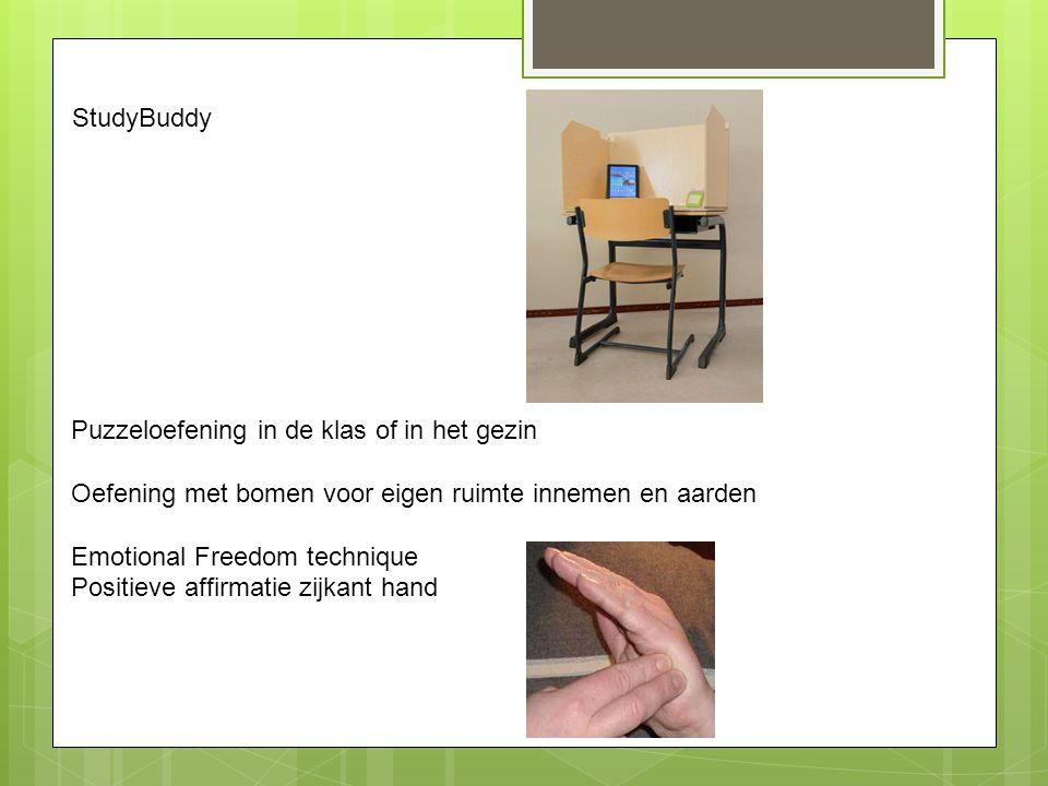 StudyBuddy Puzzeloefening in de klas of in het gezin. Oefening met bomen voor eigen ruimte innemen en aarden.