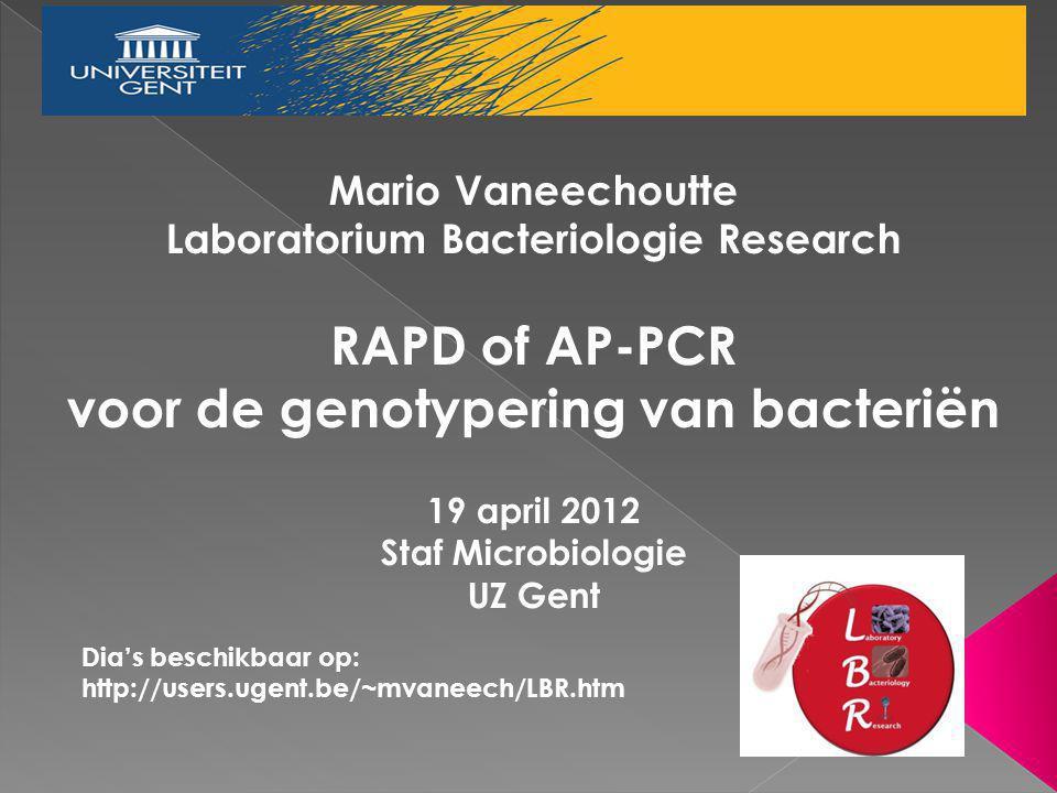 Laboratorium Bacteriologie Research voor de genotypering van bacteriën
