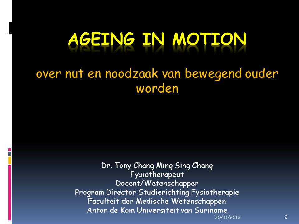 over nut en noodzaak van bewegend ouder worden