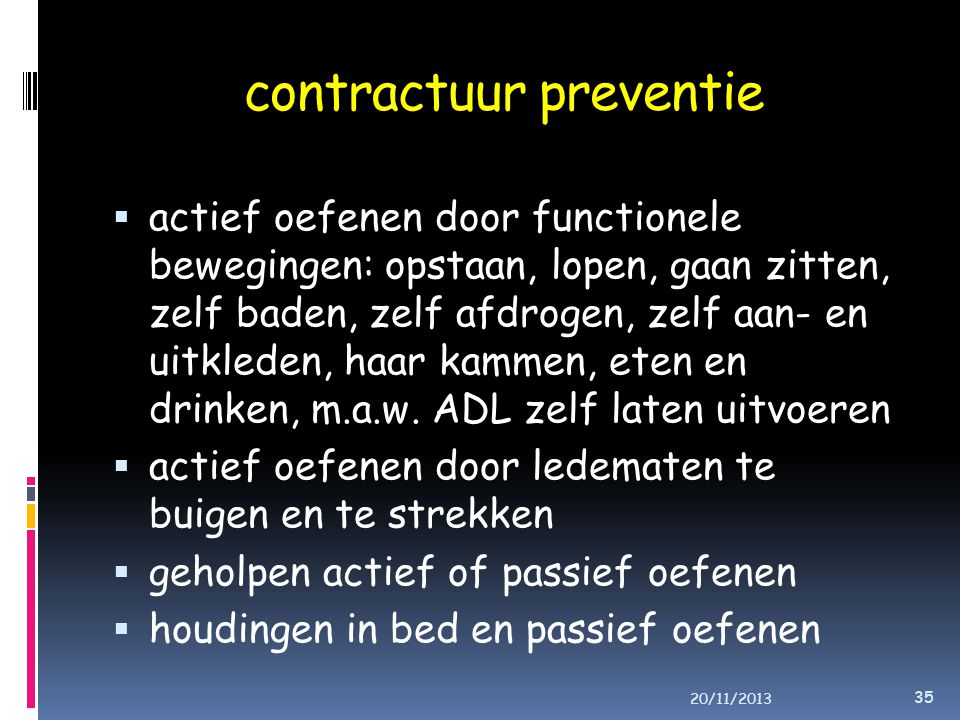contractuur preventie