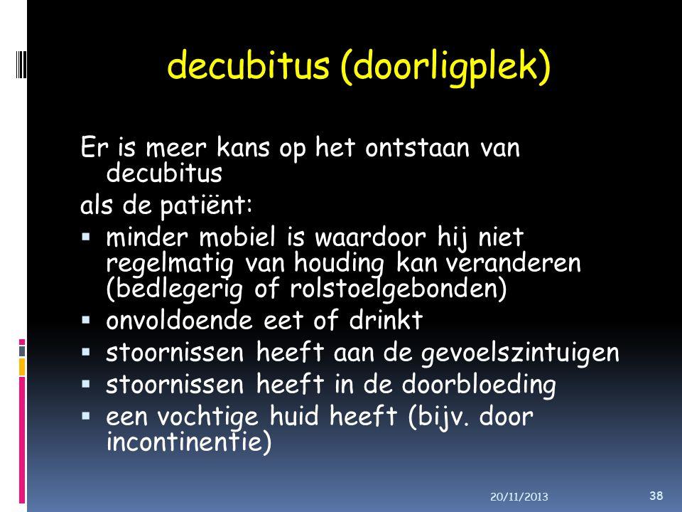 decubitus (doorligplek)