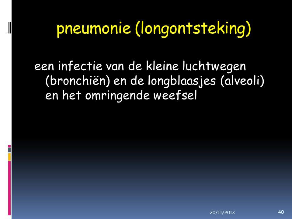 pneumonie (longontsteking)