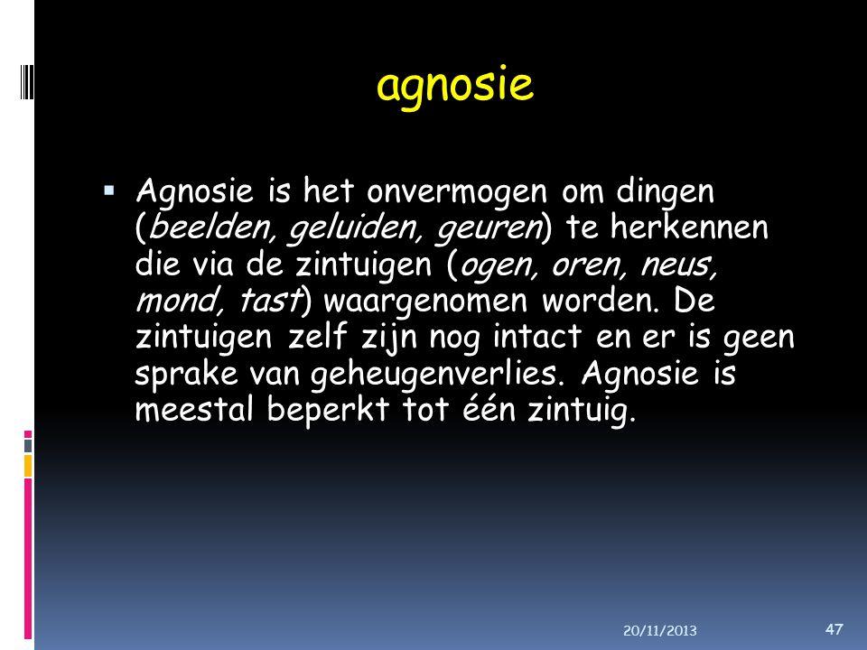 agnosie