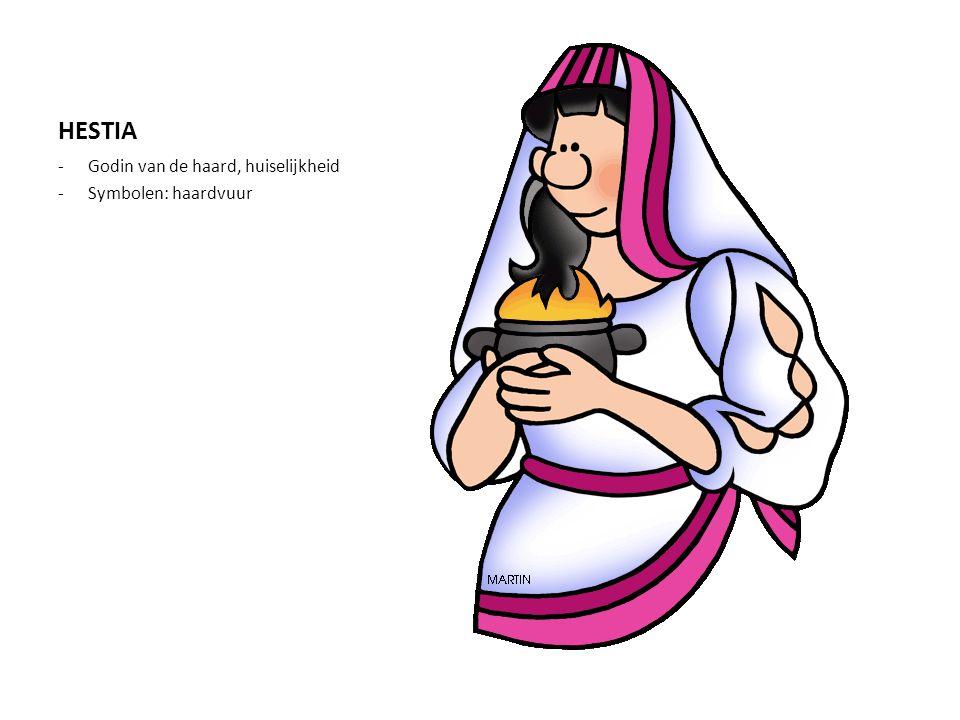 HESTIA Godin van de haard, huiselijkheid Symbolen: haardvuur