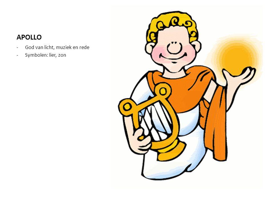 APOLLO God van licht, muziek en rede Symbolen: lier, zon