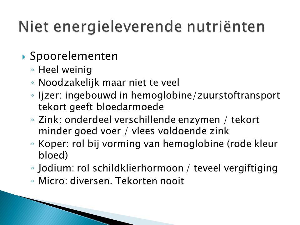 Niet energieleverende nutriënten