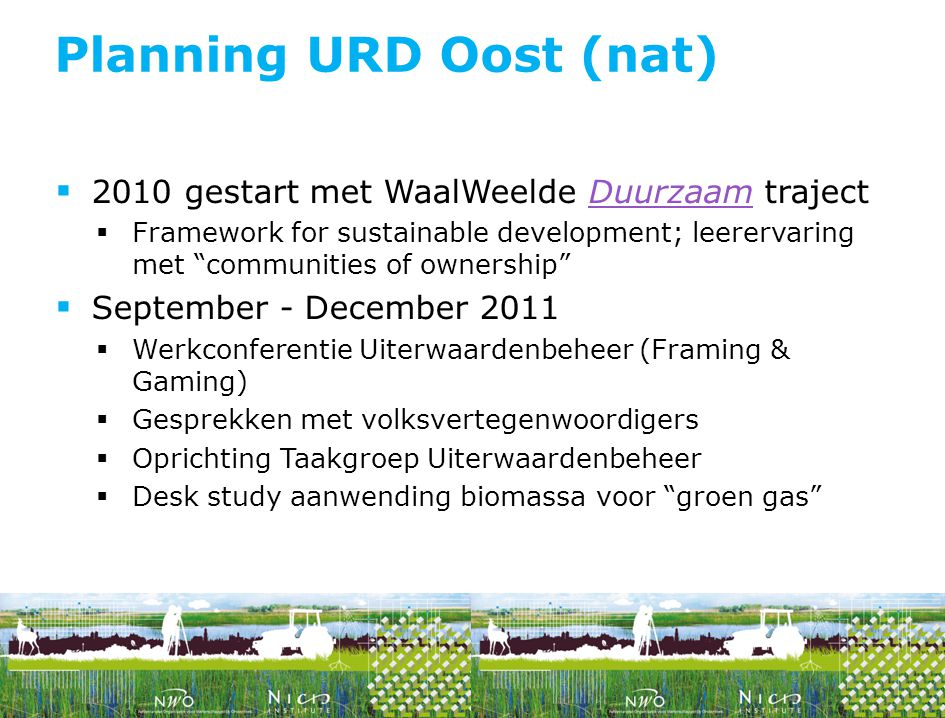 Planning URD Oost (nat)