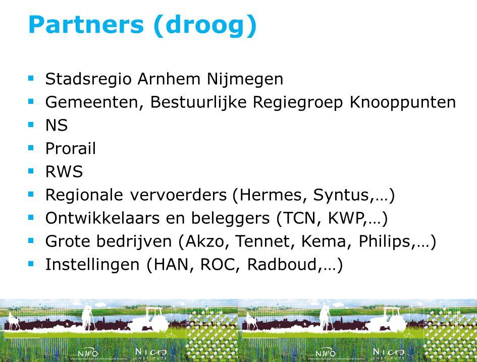 Partners (droog) Stadsregio Arnhem Nijmegen