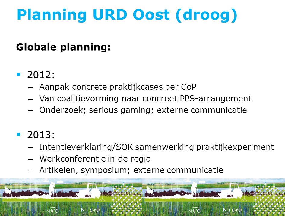 Planning URD Oost (droog)