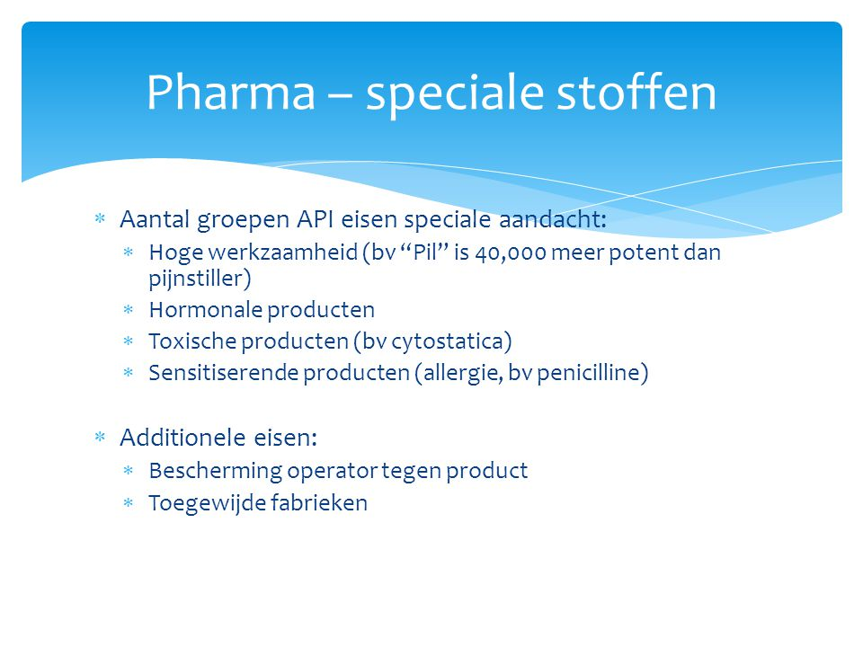 Pharma – speciale stoffen