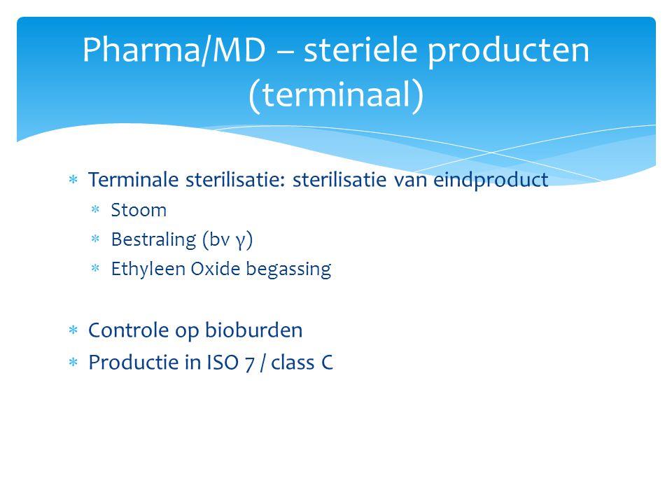 Pharma/MD – steriele producten (terminaal)