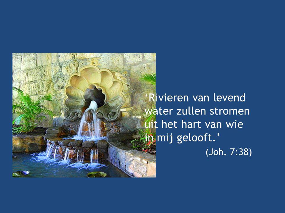 'Rivieren van levend water zullen stromen uit het hart van wie in mij gelooft.'