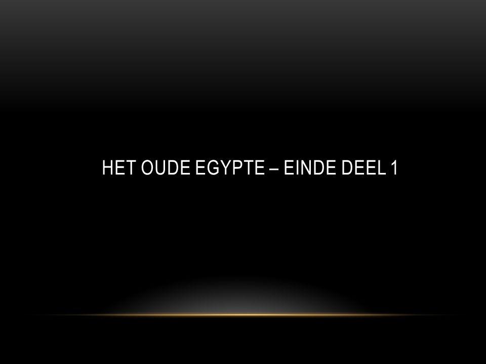 Het oude Egypte – einde deel 1