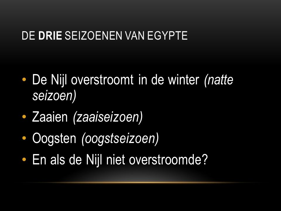 De drie seizoenen van Egypte