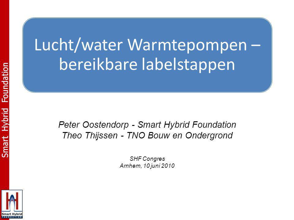 Lucht/water Warmtepompen – bereikbare labelstappen