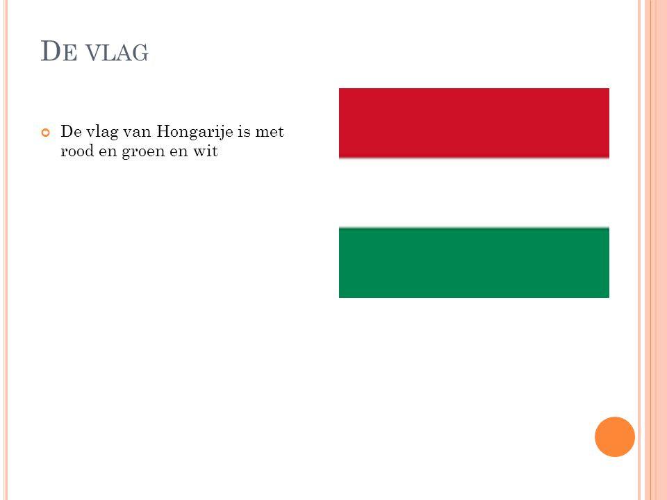 De vlag De vlag van Hongarije is met rood en groen en wit