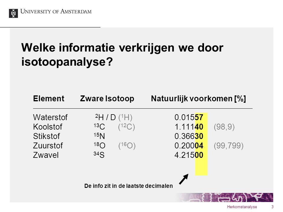 Welke informatie verkrijgen we door isotoopanalyse