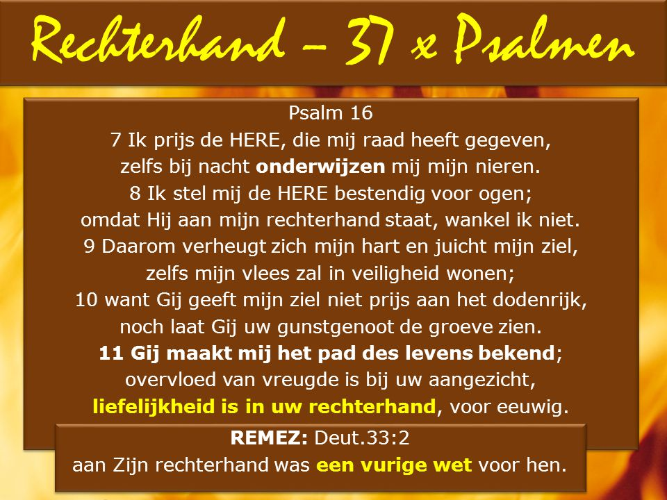 Rechterhand – 37 x Psalmen