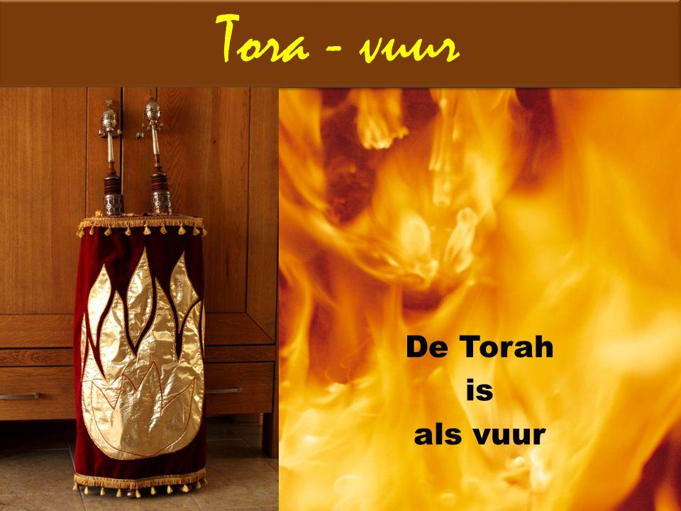 Tora - vuur De Torah is als vuur