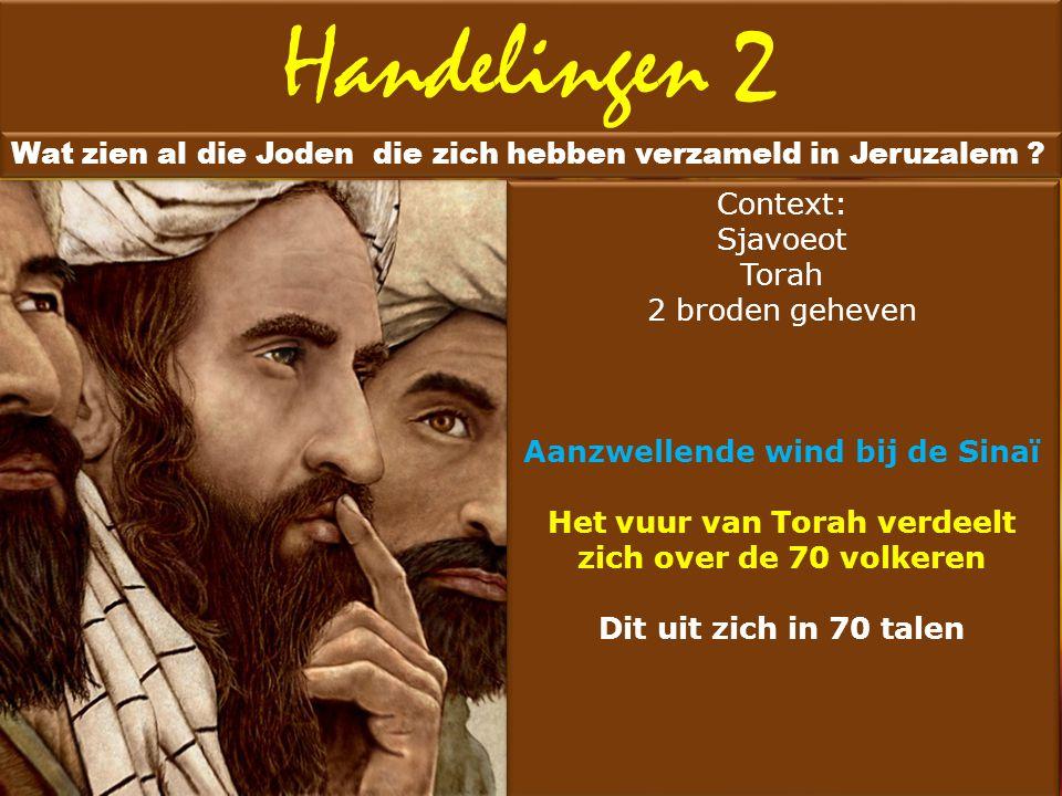 Handelingen 2 Wat zien al die Joden die zich hebben verzameld in Jeruzalem Context: Sjavoeot. Torah.