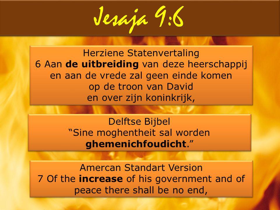 Jesaja 9:6 Herziene Statenvertaling