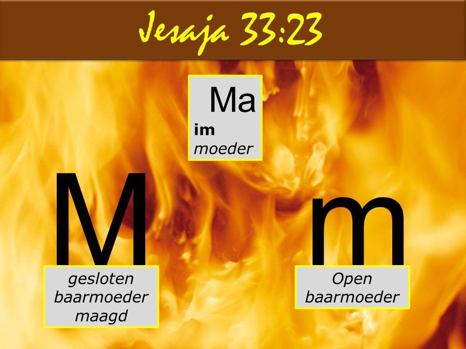 M m Jesaja 33:23 Ma im moeder gesloten baarmoeder maagd
