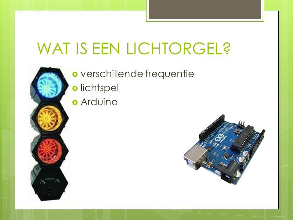 WAT IS EEN LICHTORGEL verschillende frequentie lichtspel Arduino