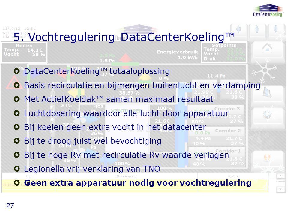 5. Vochtregulering DataCenterKoeling™