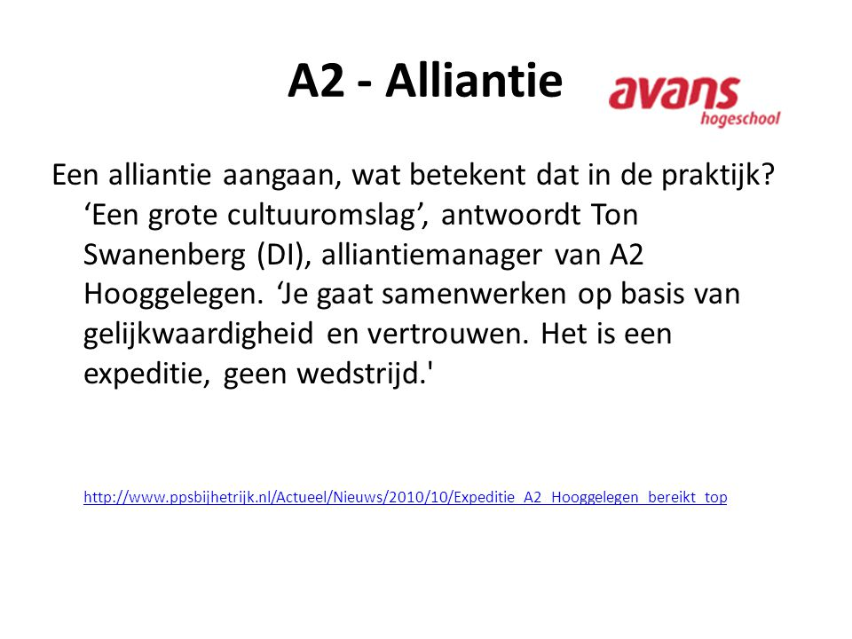 A2 - Alliantie