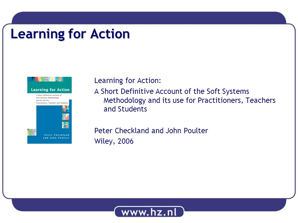 Learning for Action Learning for Action: