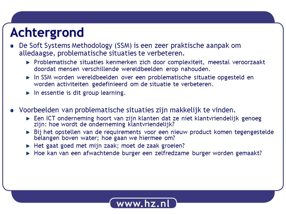 Soft systems methodology een doelbewuste aanpak voor action research ppt download - Hoe salon te verbeteren ...