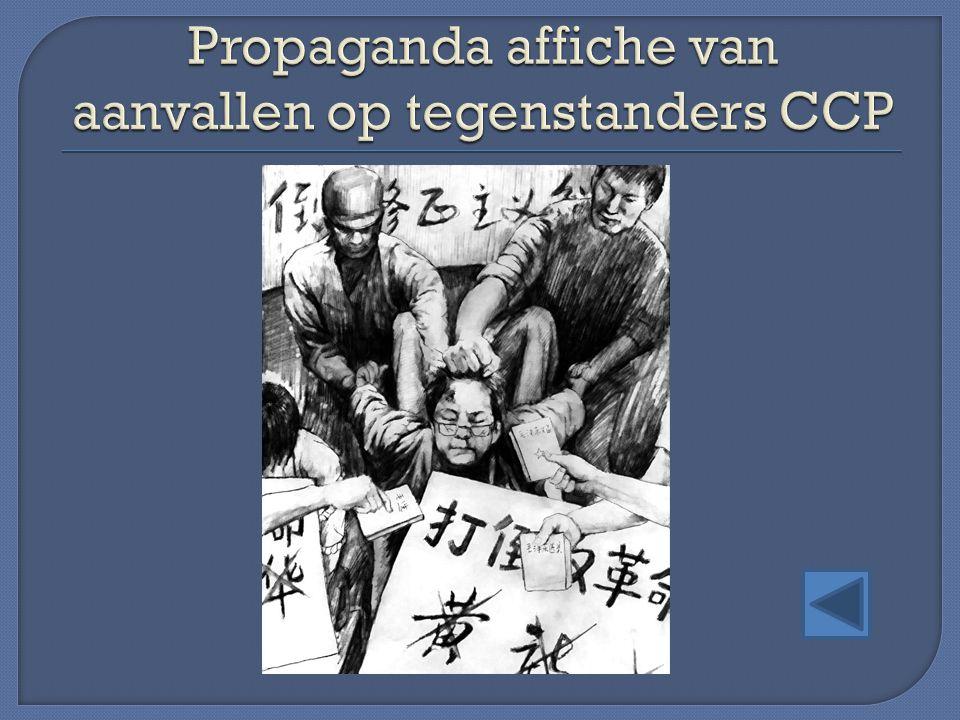 Propaganda affiche van aanvallen op tegenstanders CCP