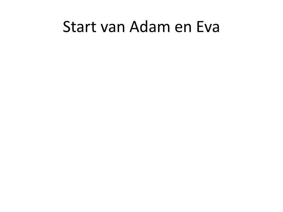 Start van Adam en Eva