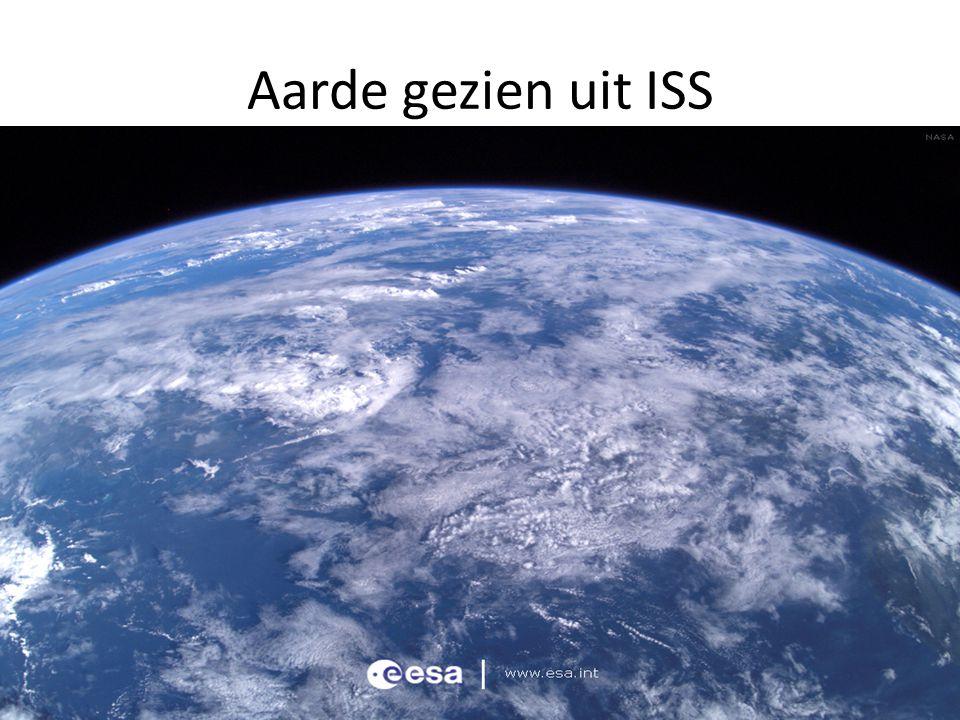 Aarde gezien uit ISS Bron : ESA Blauw blauw en niets te zien Welke 2 herkenningspunten zijn wel te zien