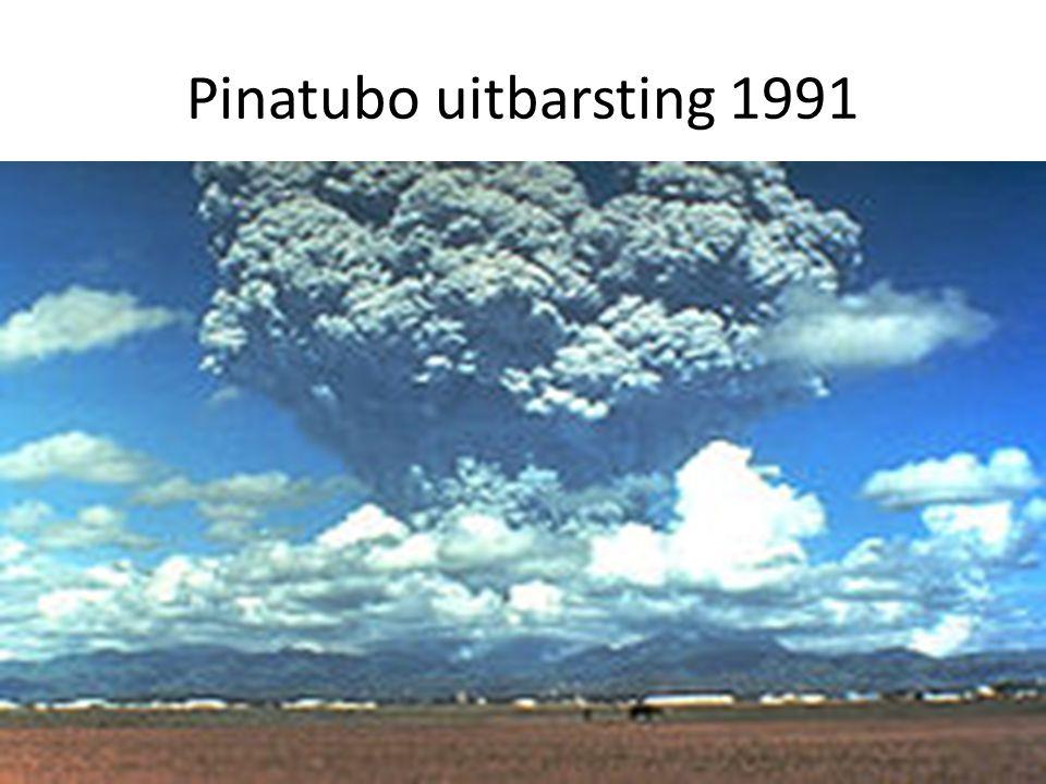 Pinatubo uitbarsting 1991 Pinatabo uitbarsting: niet zo lang geleden