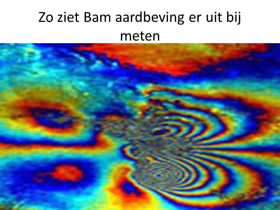 Zo ziet Bam aardbeving er uit bij meten