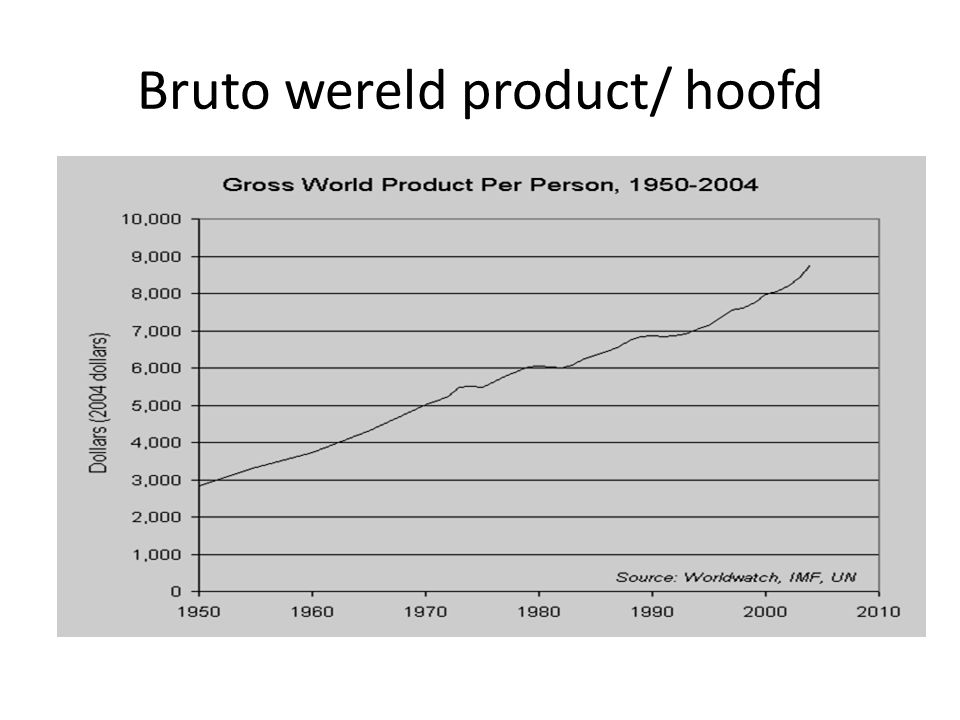 Bruto wereld product/ hoofd