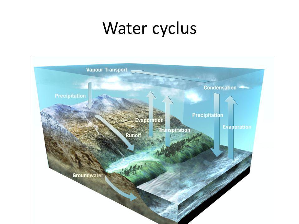 Water cyclus Water bedekt Aarde voor 75%