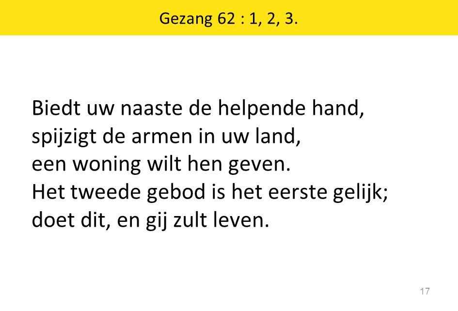 Gezang 62 : 1, 2, 3.