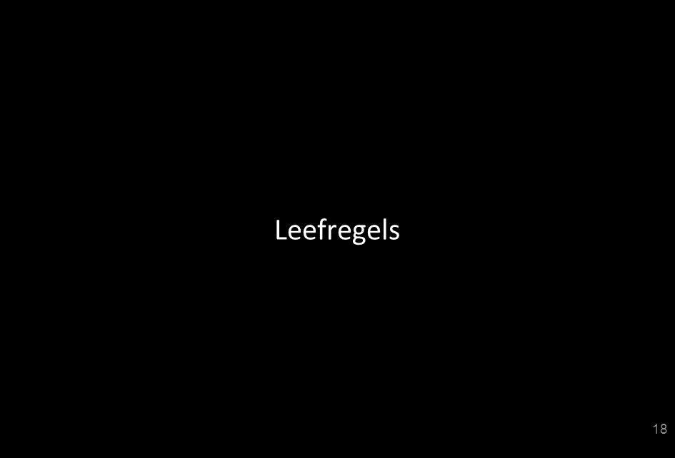 Leefregels
