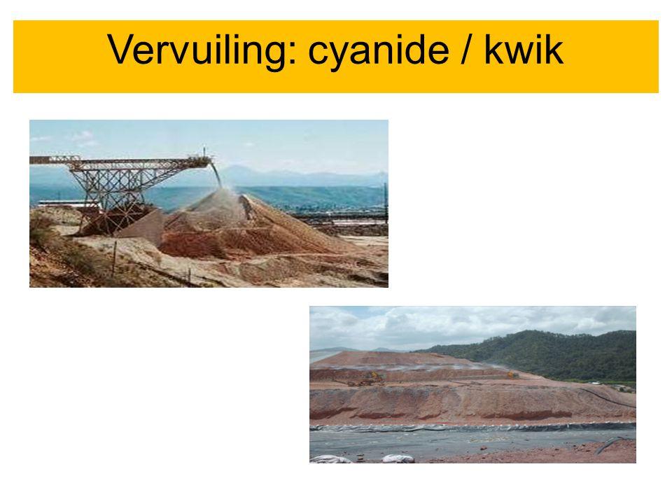 Vervuiling: cyanide / kwik