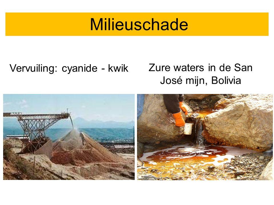 Milieuschade Vervuiling: cyanide - kwik