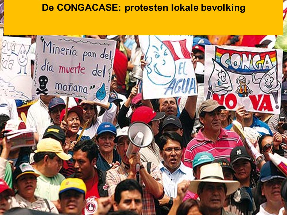 De CONGACASE: protesten lokale bevolking