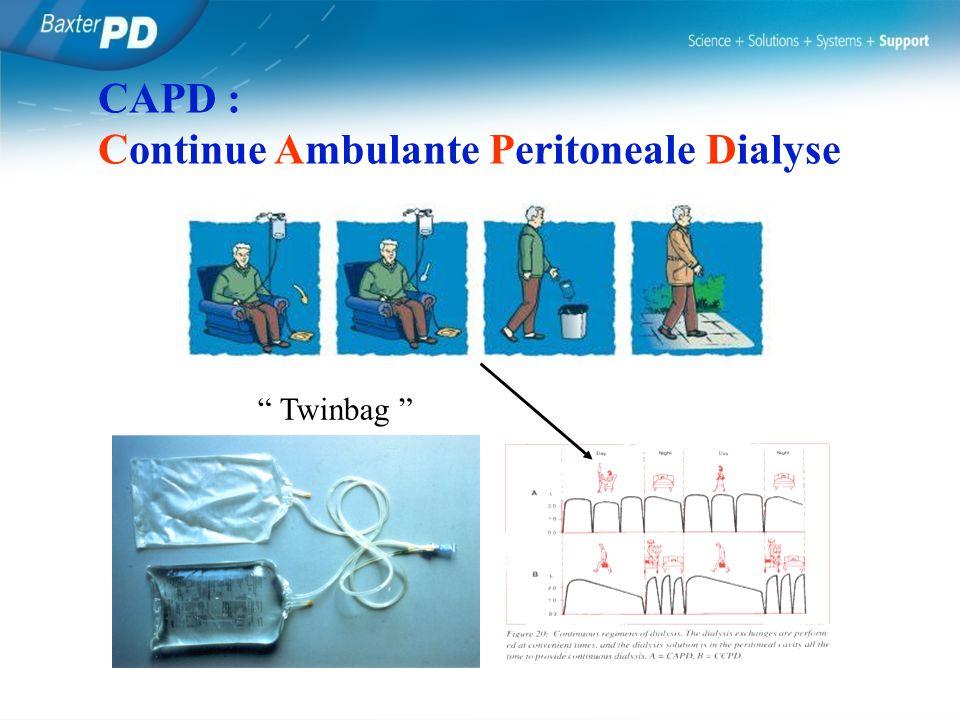 CAPD : Continue Ambulante Peritoneale Dialyse