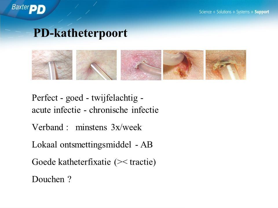 PD-katheterpoort Perfect - goed - twijfelachtig -